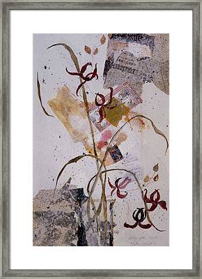 Framed Print featuring the painting Letter From Yasuko by Elaine Elliott