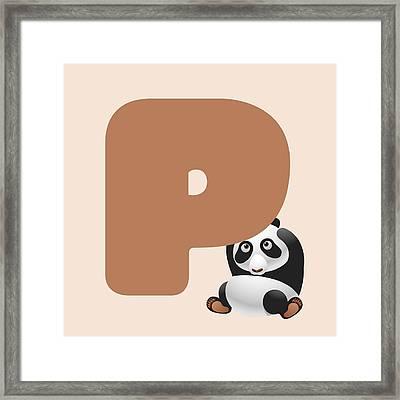 Letter P Framed Print