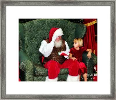 Letter To Santa Framed Print by Eddie Yerkish
