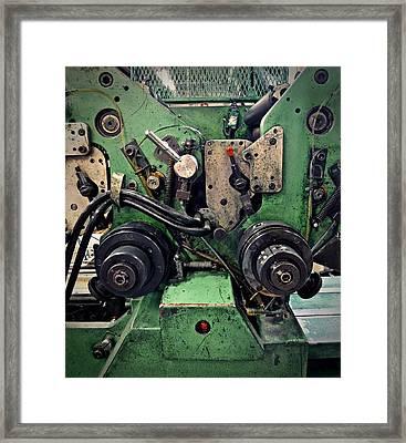 Letterpress Machine Framed Print