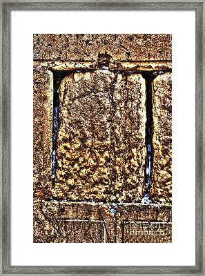 Framed Print featuring the photograph Letters In The Wailing Wall by Doc Braham