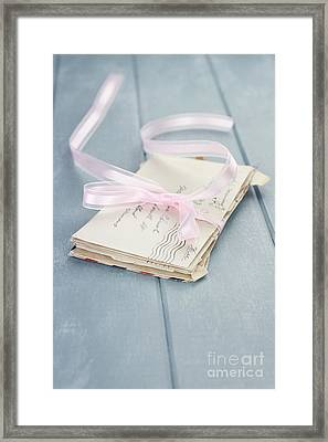 Letters From Him Framed Print