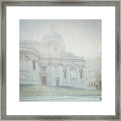 Letters From Roma Framed Print