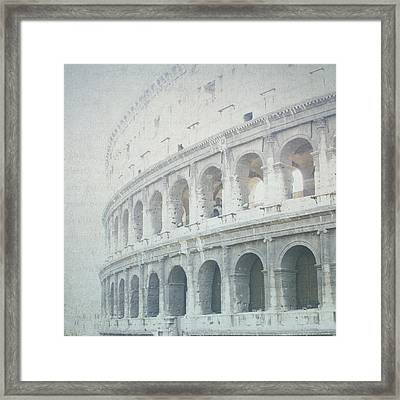 Letters From The Colosseum Framed Print