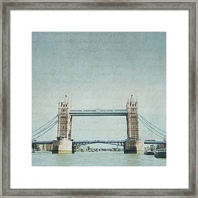 Letters From Tower Bridge - London Framed Print
