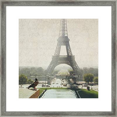 Letters From Trocadero - Paris Framed Print