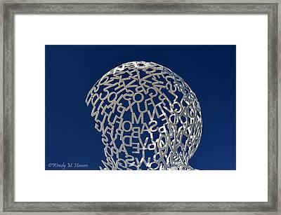 Letters In The Sky Framed Print by Wendy Hansen-Penman