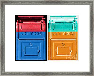 Letters Letters Framed Print by Dan Holm