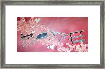 Letters Of Love Framed Print