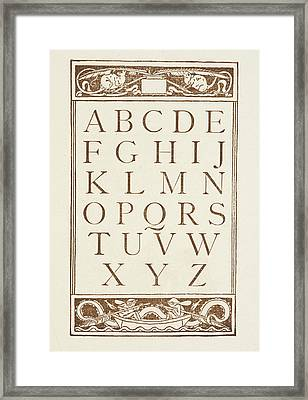 Letters Of The Alphabet Framed Print by British Library