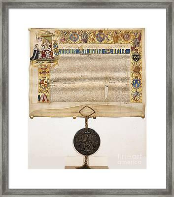 Letters Patent Of James I Framed Print