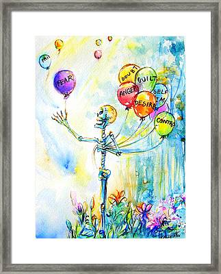 Letting Go Framed Print by Heather Calderon