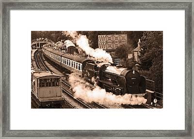 Letting Off Steam Framed Print by John Topman