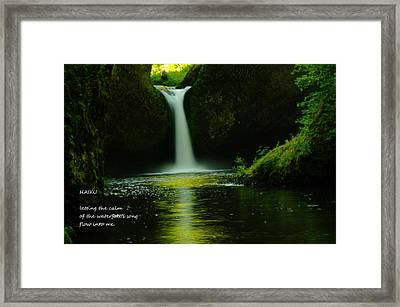 Letting The Calm Framed Print by Jeff Swan