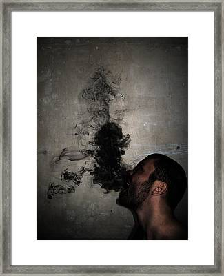 Letting The Darkness Out Framed Print by Nicklas Gustafsson