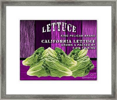 Lettuce Farm Framed Print