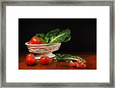 Lettuce Leaves Framed Print by Diana Angstadt