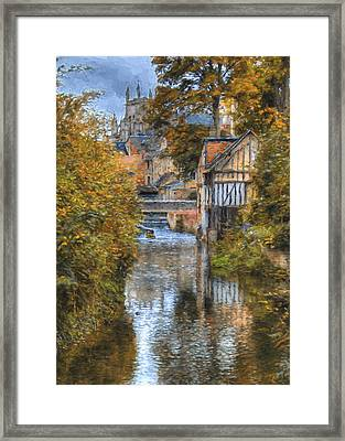 L'eure A Louviers Framed Print