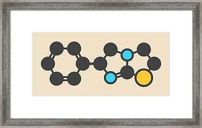 Levamisole Antihelmintic Drug Molecule Framed Print