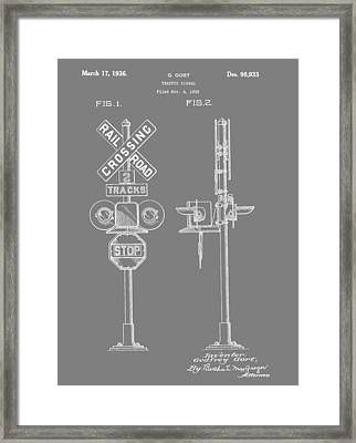 Level Crossing Patent Framed Print by Dan Sproul