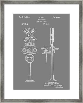 Level Crossing Patent Framed Print