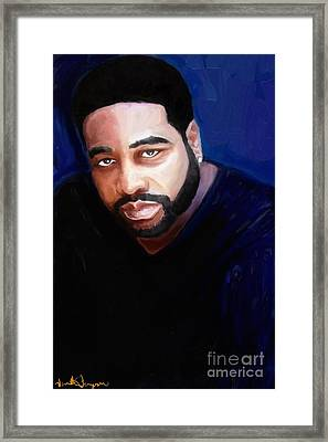 Framed Print featuring the painting Levert by Vannetta Ferguson