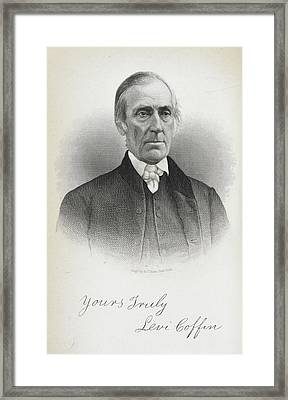 Levi Coffin Framed Print by British Library