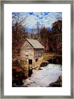 Levi Jackson Park Water Mill Framed Print by Stephanie Frey