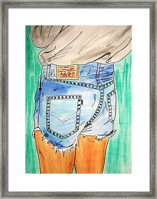 Levi Strauss Framed Print by Katie Profita