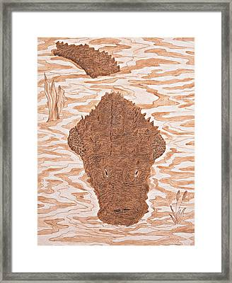 Leviathan Framed Print by Pauline Barrett