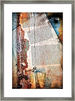 Leviticus 1 Framed Print by Switchvues Design