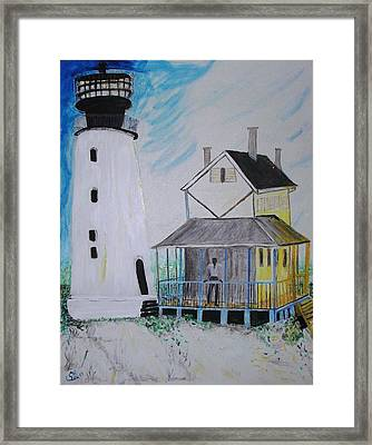 Lewes 1926 Lighthouse Framed Print