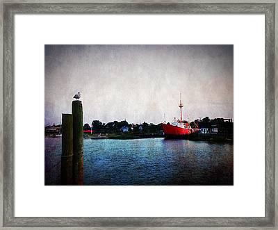 Lewes - Overfalls Lightship 2 Framed Print by Richard Reeve