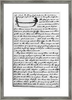 Lewis & Clark Canoe, 1806 Framed Print by Granger