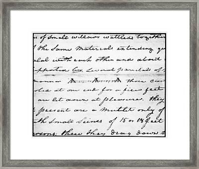 Lewis & Clark Fish Weir Framed Print by Granger