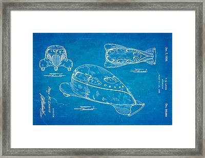 Lewis Airomobile Patent Art 1936 Blueprint Framed Print by Ian Monk