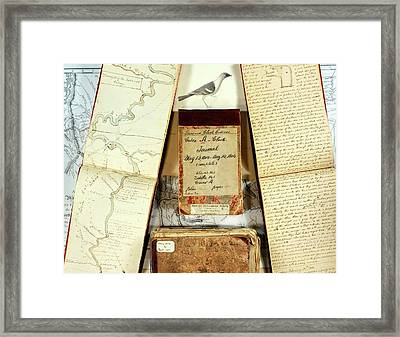 Lewis And Clark Expedition Journals Framed Print by American Philosophical Society