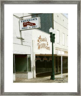 Lewis And Williams Framed Print