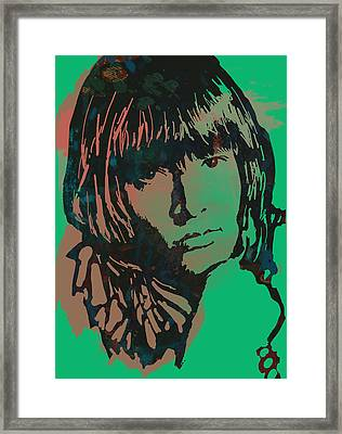 Lewis Brian Jones - Stylised Pop Art Drawing Portrait Poster  Framed Print by Kim Wang