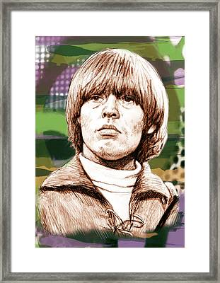 Lewis Brian - Stylised Pop Art Drawing Portrait Poster  Framed Print by Kim Wang