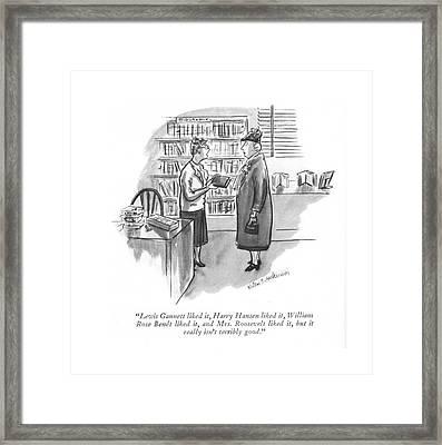 Lewis Gannett Liked Framed Print