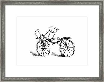 Lewis Gompertz's Bicycle Framed Print