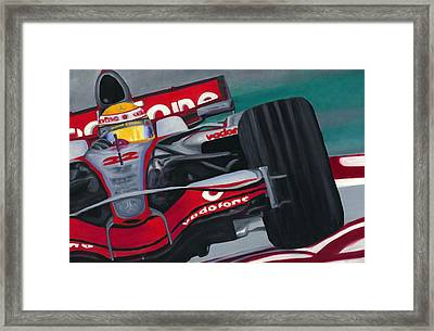 Lewis Hamilton F1 World Champion 2008 Framed Print