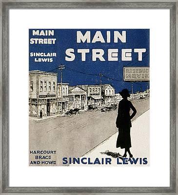 Lewis Main Street, 1920 Framed Print