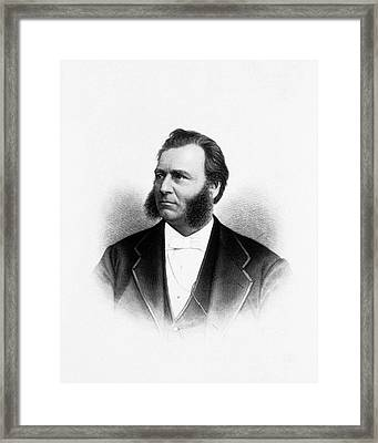 Lewis Sayre Framed Print by National Library Of Medicine