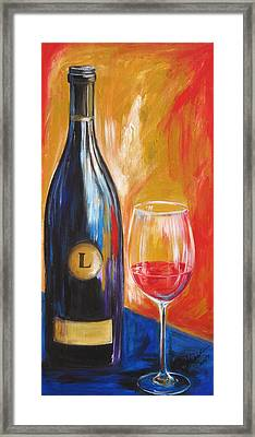 Framed Print featuring the painting Lewis by Sheri  Chakamian
