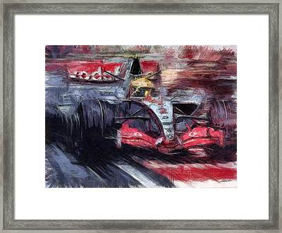 Lewis Framed Print by Tano V-Dodici ArtAutomobile