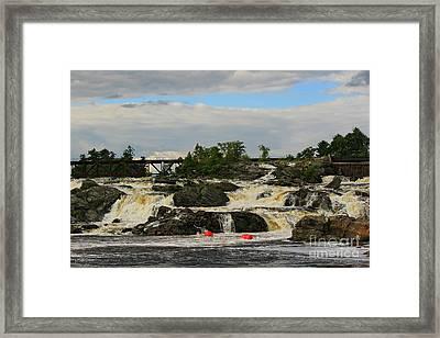 Lewiston Auburn Maine Trestle Framed Print by Brenda Giasson