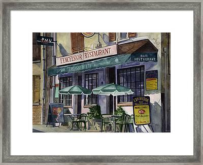 L'excelsior Cafe Framed Print by Terri  Meyer