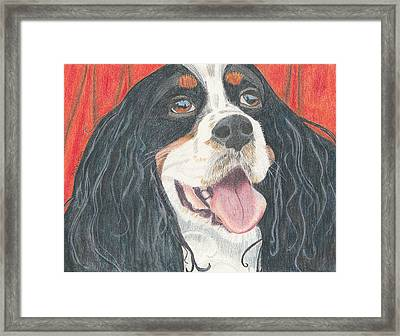 Framed Print featuring the drawing Lexie by Arlene Crafton